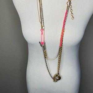 Juicy couture 2 Necklaces Long Short Pink Gold